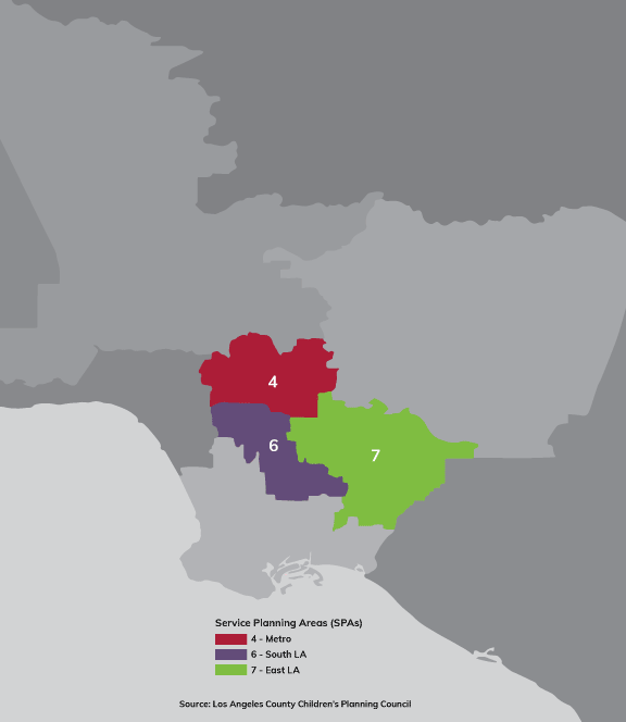 Services Planning Area Map